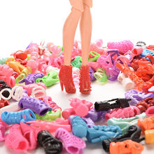 15Pairs Colorful Assorted Shoes For Barbie Doll With Different Styles Fashion Toy Girls Christmas Gift(China)