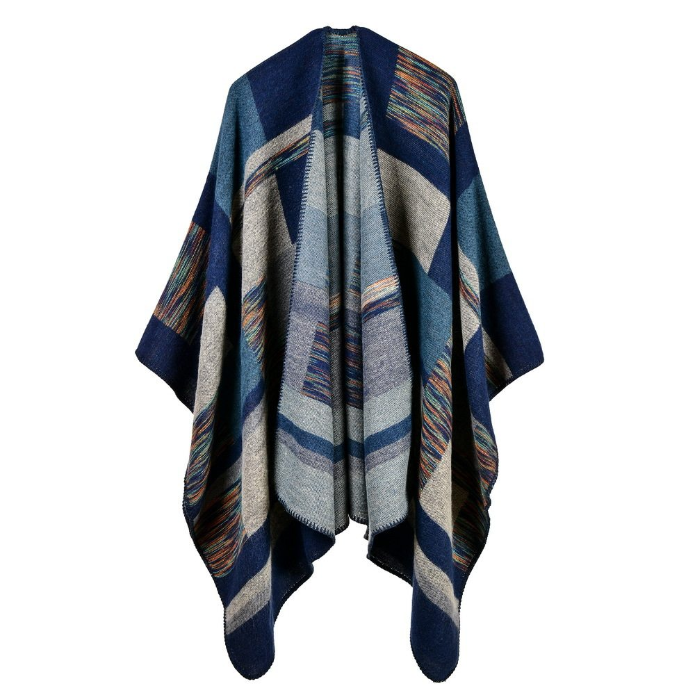 dea796bc4fd 2019 women poncho cashmere caps fashion plaid big thick warm scarf winter  ponchos Blanket knit echarpe