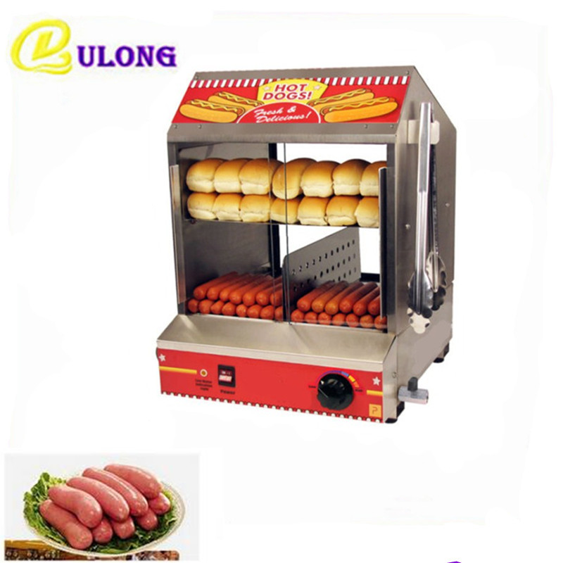Electric Stainless Steel Warming Counter Mini Commercial Hot Display Showcase Food Steamer On Sale
