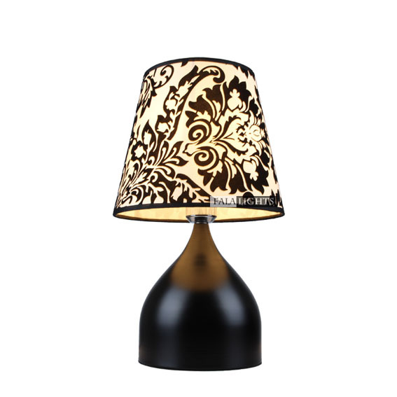 Luxury 10 Modern Black Bedroom bedside Table light Creative Study Room Fabric Lampshade Living Room Office Desk Light