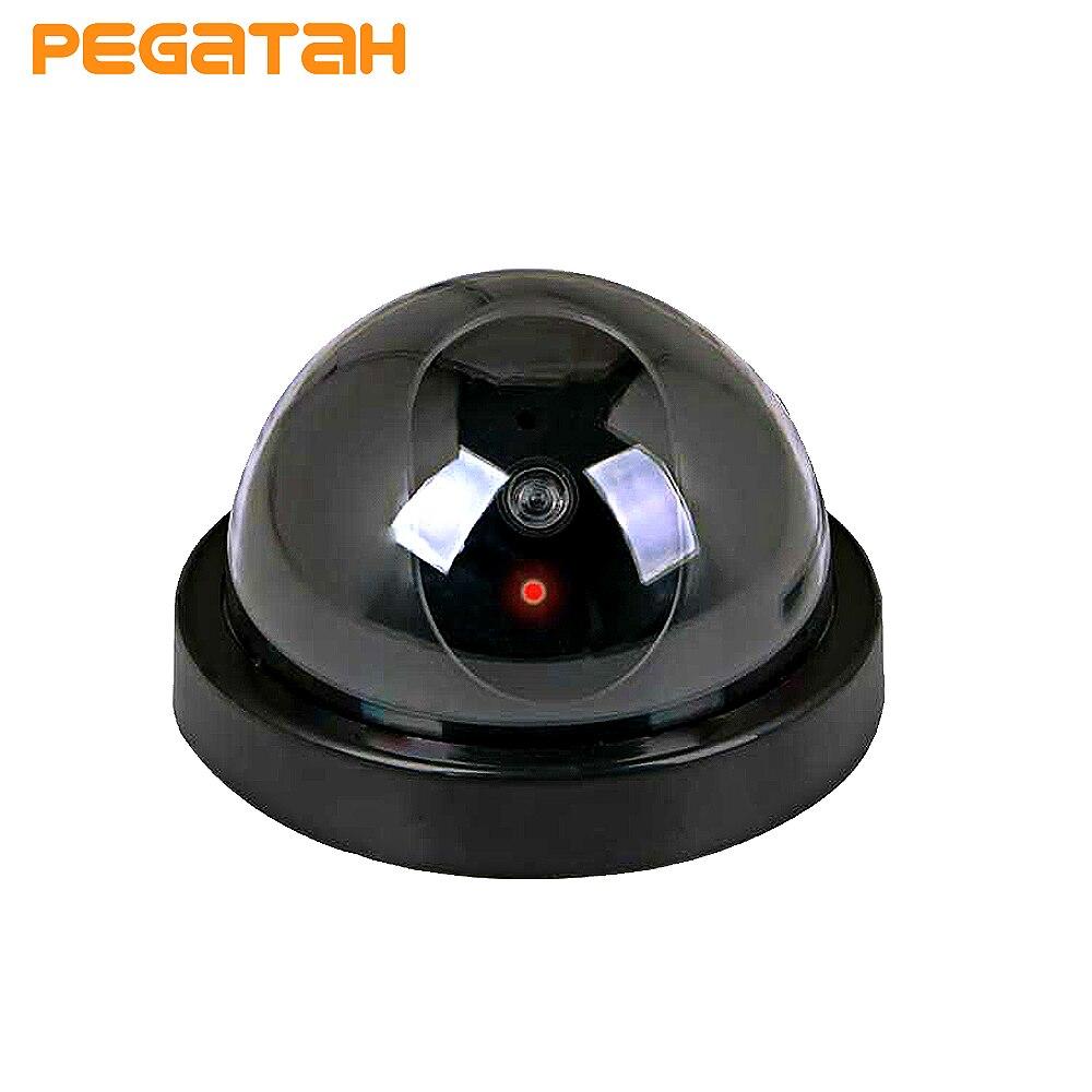Новая имитация камеры видеонаблюдения, купольная камера, вспышка, CCTV камера видеонаблюдения, система безопасности