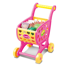 2017 New Shopping Carts Fruit Vegetable Pretend Play Children Educational Toy Christmas Gift Kids Toys For Children Drop Ship