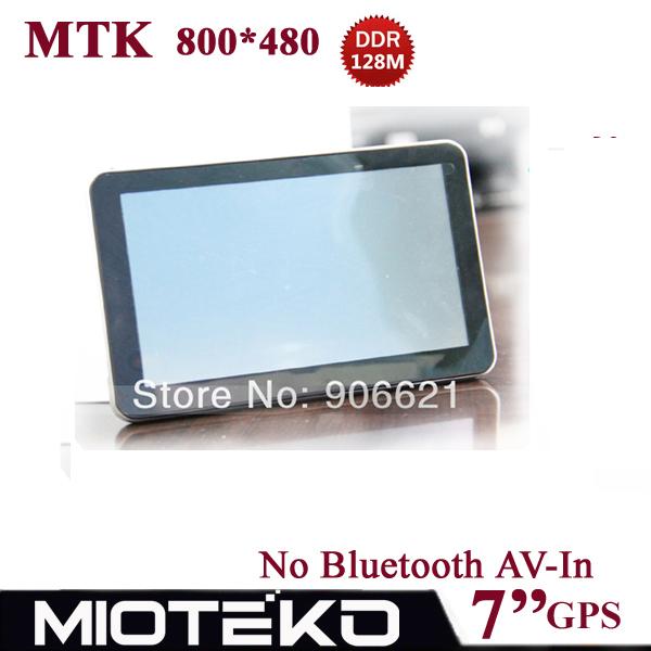 Melhor!!! 7 polegada Livre 4 GB Car Navegação GPS Navigator 800*480, MTK, DDR128M/4 GB, FM, Naivtel (Rússia, Ucrânia, Bielorrússia, Cazaquistão