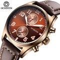 Лучший Бренд Моды Роскошь Часы Мужчины Хронограф Армии Военные Спортивные Часы Кожа мужская Кварцевые Наручные Часы Relogio мужской
