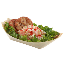 Free Shipping Party Wedding Suppliers Disposable Pine Wood Boat Container, Sushi/Salad/Dessert, 8 Inch, 20x11cm, 200/Pack