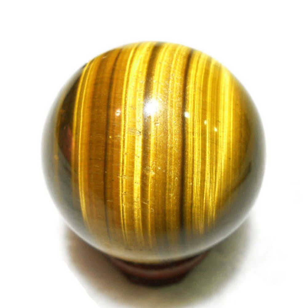 Yellow Healing Ball Rare Natural Pendants Tiger Eye Toy Sphere Mini Gift Round 2cm Handmade Crystal