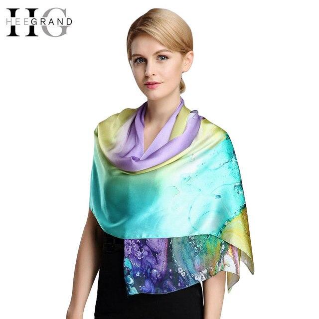 HEE GARAND 2016 New Silk Soft  Autumn Scarf  Vintage Women Long Print  Autumn Shawl  Fashion Wrap PWX206