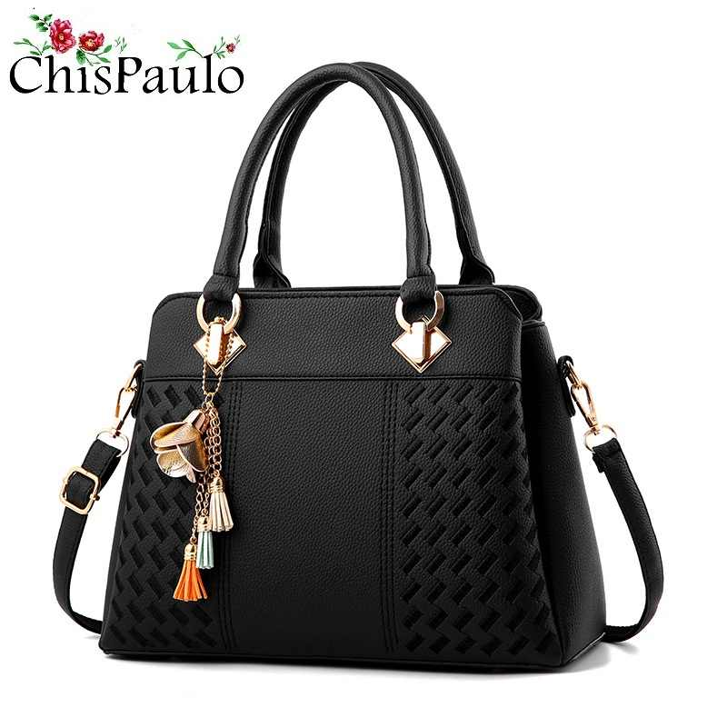 New Fashion Women's Pattern Handbag 2019 Leather Bags For Women 2018 Ladies Crossbody Shoulder Chain Bags Female Messenger N258