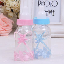 1pc Baby Shower Baptism Christening Birthday Gift Party Favors Candy Box Bottle(China)