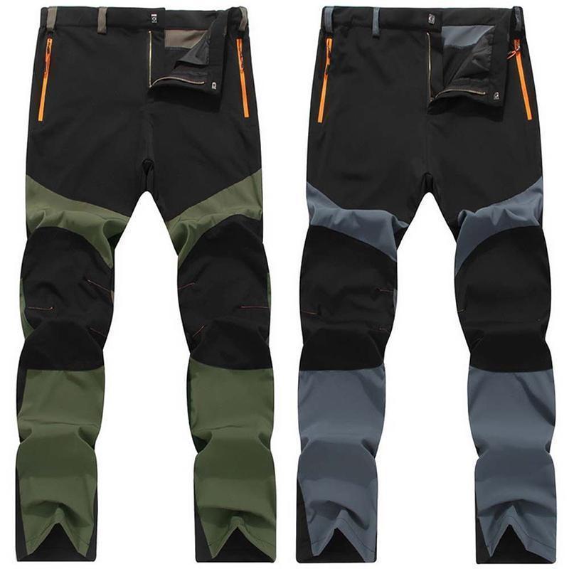 Unico Spliced Zipper Uomo Snowboard Pantaloni Impermeabili Pantaloni Elastici Sottili Athleisure
