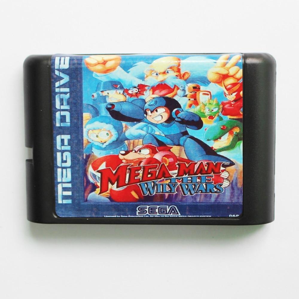 Mega Man The Wily Wars Game Cartridge Newest 16 bit Game Card For Sega Mega Drive / Genesis System