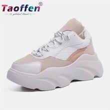 цены на Taoffen Sneaker For Women Running Shoes Women Genuine Leather Sports Shoes Women Casual Footwear Female Outdoor Shoes Size 35-40  в интернет-магазинах