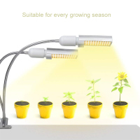45W Sunlike Full Spectrum Grow Lamp LED Grow Light For Indoor Plant Dual Head Gooseneck Plant Light Double Switch
