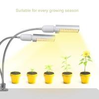 45W Sunlike 전체 스펙트럼 성장 램프 LED 실내 식물에 대 한 빛을 성장 듀얼 헤드 구즈넥 식물 빛 더블 스위치 #|LED 식물 조명|   -