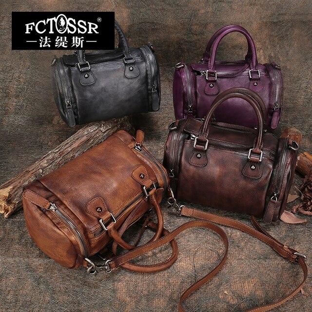 2017 High Quality Women Handbag Vintage Original Genuine Leather Shoulder Bag Female Handmade Messenger Bags Crossbody bag Women