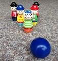 Frete grátis para Crianças Brinquedo De Madeira Boliche, cor mini animais Bowling, animais dos desenhos animados abelha brinquedos, brinquedos educativos para crianças