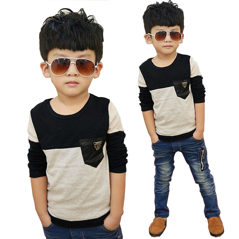 Boys   shirts   long sleeve Tops 2019 Spring kids clothes children   shirts   for boys   blouse   patchwork leopard toddler boy   shirts