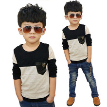 hot deal buy boys shirts long sleeve tops 2019 spring kids clothes children shirts for boys blouse patchwork leopard toddler boy shirts