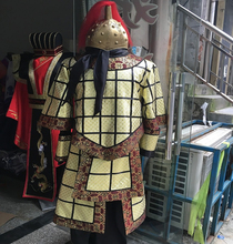 General Qin soldiers ancient costume divine troops Outfit descending from Heaven cosplay High-grade Soft armor clothing