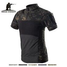 MEGE Camouflage Armee T Shirt Männer Sommer RU Frosch Soldaten Kampf Tactical T shirt Militärische Kraft Multicam T Camo Kurzarm