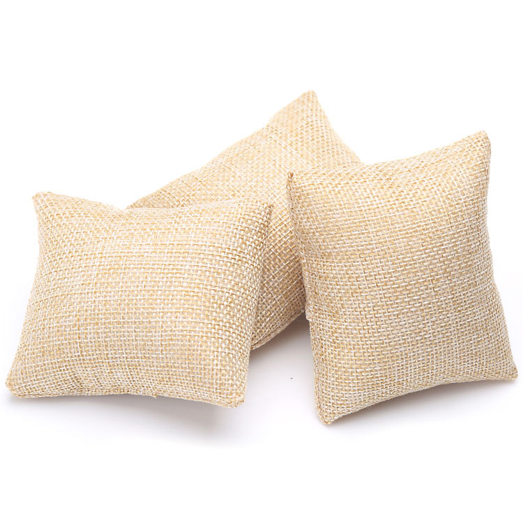 200pcs Small Linen Bracelet Watch Pillow Jewelry Displays 8cm*8cm