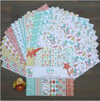 2016New Arrival DIY Photo Album Scrapbooking Decorative Papers 6in X 6in Single Side Printed 26pcs Set