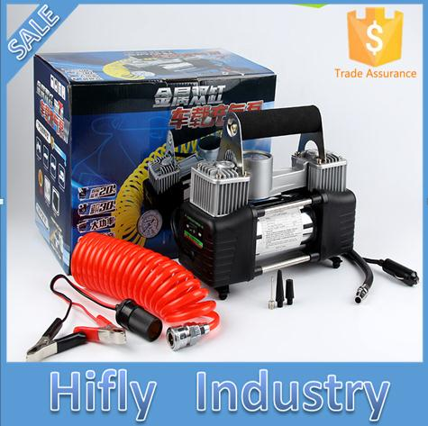 car the air pump car tires play pump automobiles tools maintenance care inflatable pump organizer supplies gear items products car inflatable pump 12V portable mute high-power metal double cylinder car inflatable pump