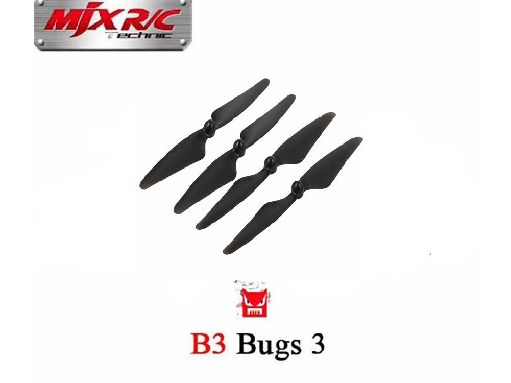 4PCS Propellers Blades For MJX B3 Rc Quadcopter Drone ( MJX Bugs 3 ) Spare Parts Accessories Remove Control Toys Part Supplies