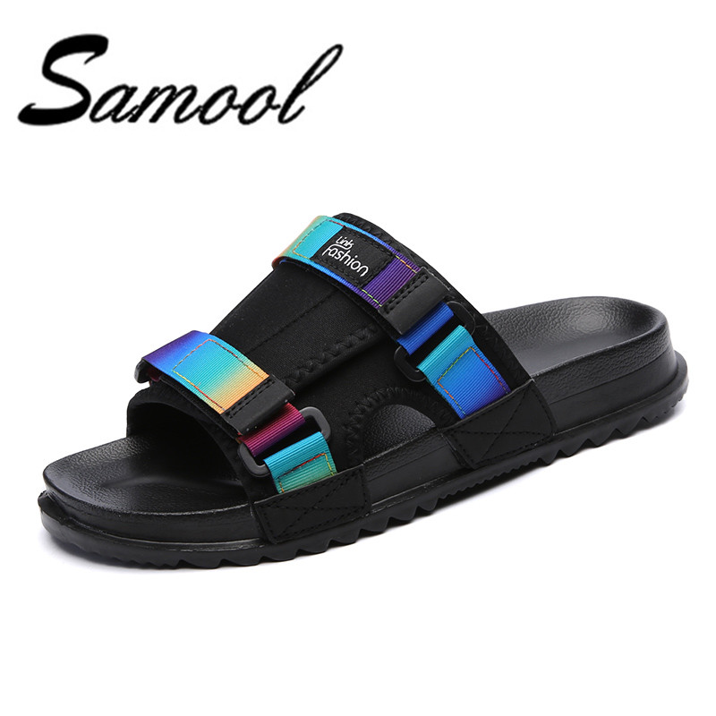 2018 summer mens sandals slippers canvas sandals outdoor casual men peep-toe sandals for men Men Beach shoe wlr4