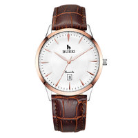BUREI Brand Lovers Sapphire Crystal Quartz Watch Waterproof Fashion Thin Dress Wristwatches With Premiums Package 2016 New