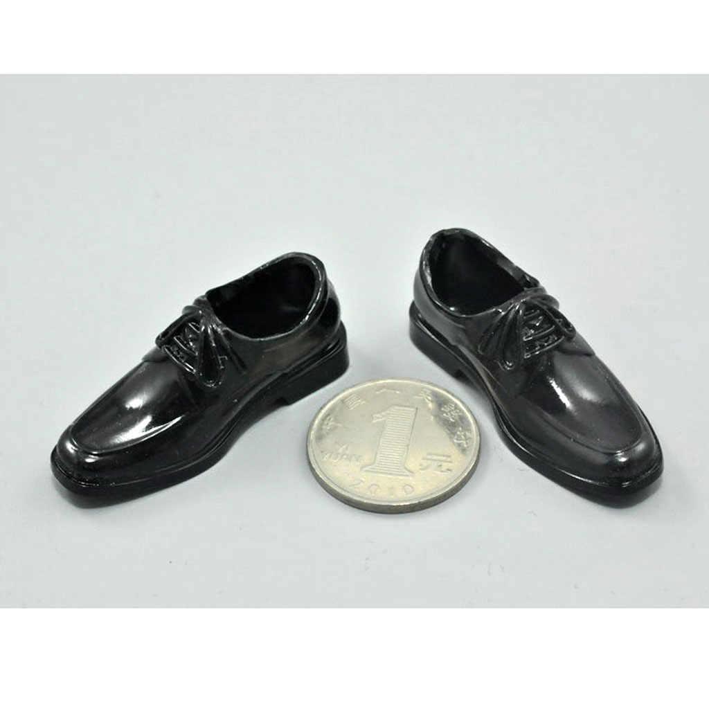 Magideal 1 Paar Zwart 1/6 Lace Up Jurk Plastic Hoge Top Schoenen Voor 12 Inch Mannelijke Action Figure Body Poppen mode Desigh Accessoire