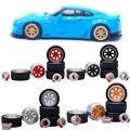 1:64 36 видов модифицированных моделей шин, 2 оси, 4 концевых колпачка, Литые колеса, резиновые транспортные средства, общая модель сменного кол...