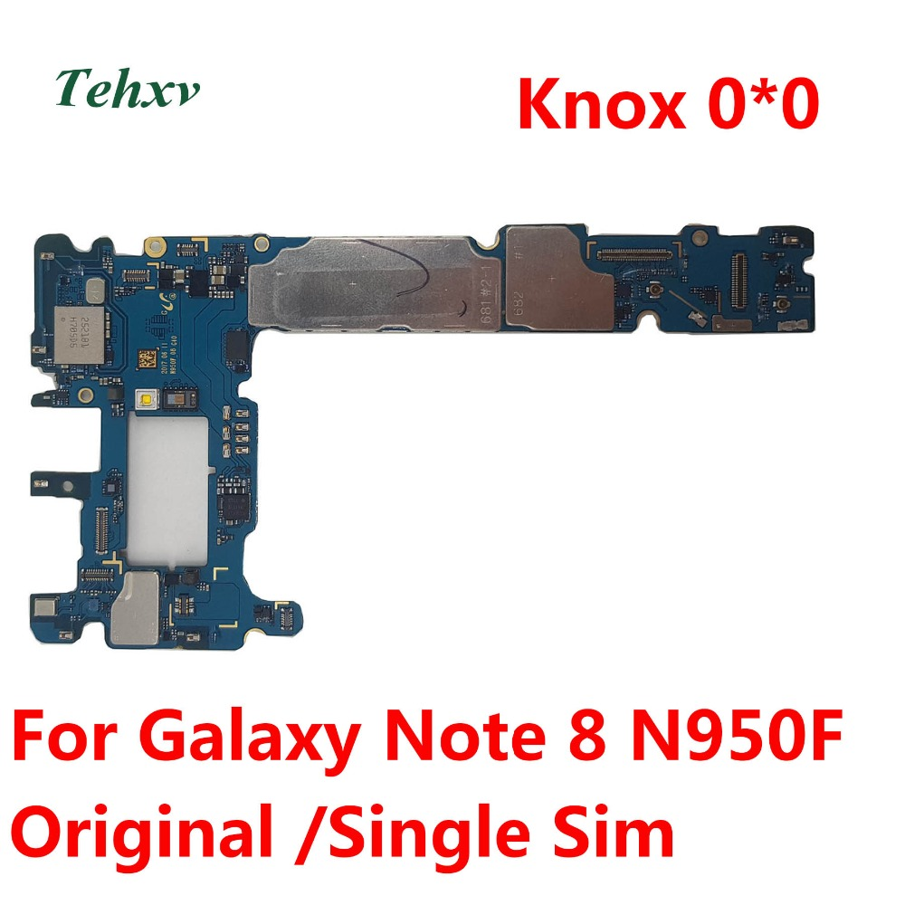 Tehxv Mainboard Knox for Samsung Galaxy Note 8/N950f/Note8/.. Unlocked Original title=