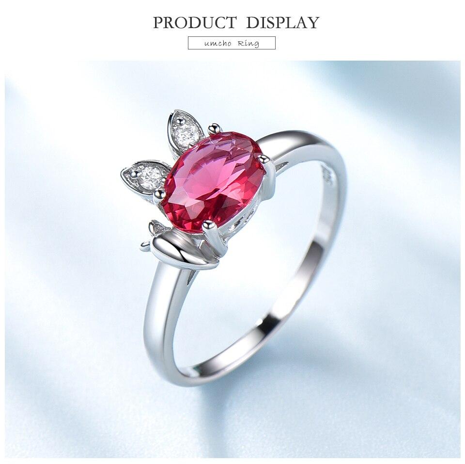 Honyy  Ruby 925 sterling silver rings for women RUJ088R-1-PC (3)