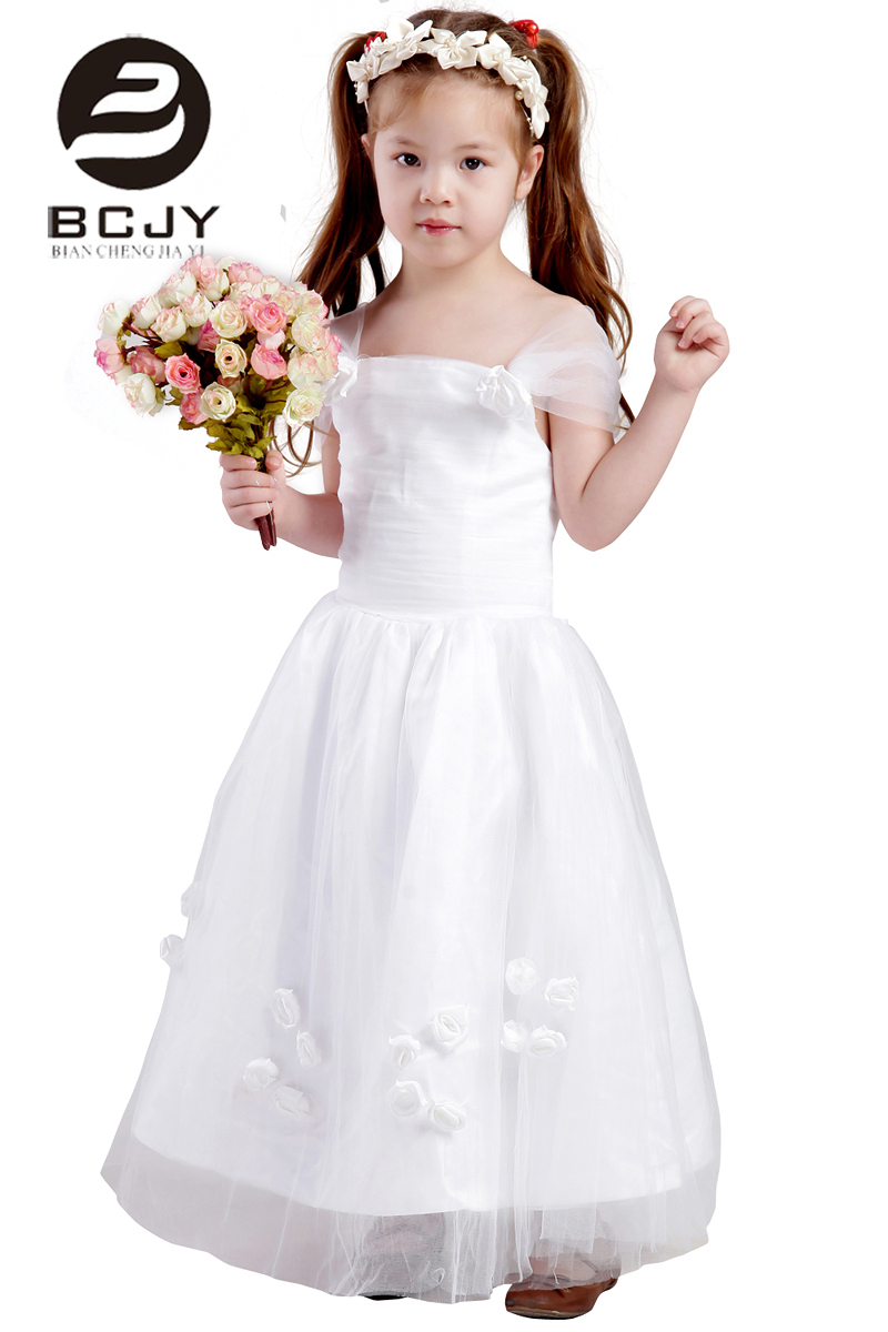 2019 Special Occasion   Flower     Girl     Dresses   Handmade   Flower   Tulle Formal Pageant Gowns For Little   Girls   Birthday Party   Dress