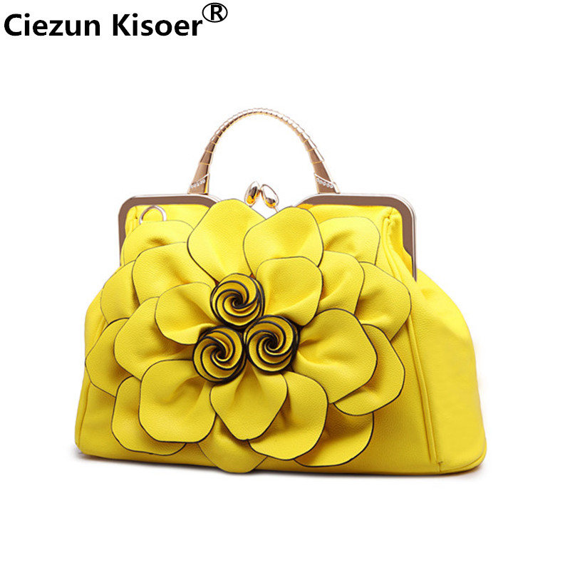 2018 women leather handbags New female rose flower ladies handbag Korean fashion casual shoulder bag large flower Messenger bag 2018 women leather handbags new female rose flower ladies handbag korean fashion casual shoulder bag large flower messenger bag