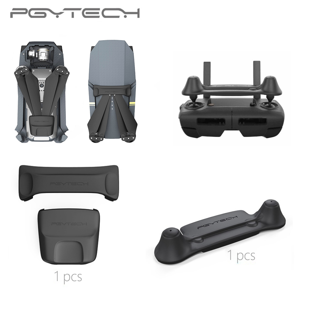 PGYTECH Remote Control Stick Protector + Propeller Holder for DJI Mavic Pro Accessories remote control screen and rocker protector for dji mavic pro black