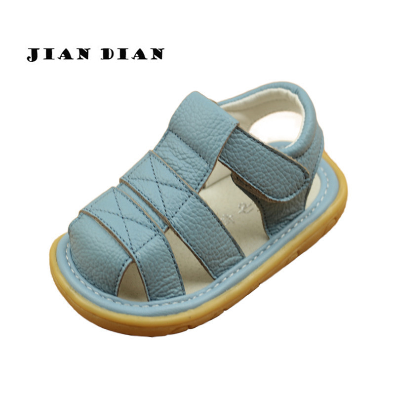 JIANDIAN Summer Real Leather Shoes For Toddler Boys Baby ...