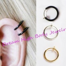 1PAIR Clip Earrings Fake Nosering Piercing Clip On
