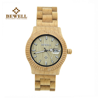 BEWELL 2016 Fashion Casual Wooden Watch Maple Wood Health Men Watches Water Resistant Men S Watches
