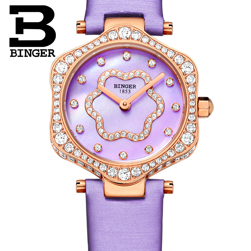 Neue Schweiz BINGER frauen Uhren Luxus Marke Quarz Wasserdichte Uhr Frau Sapphire Armbanduhren relogio feminino B1150 8 - 3