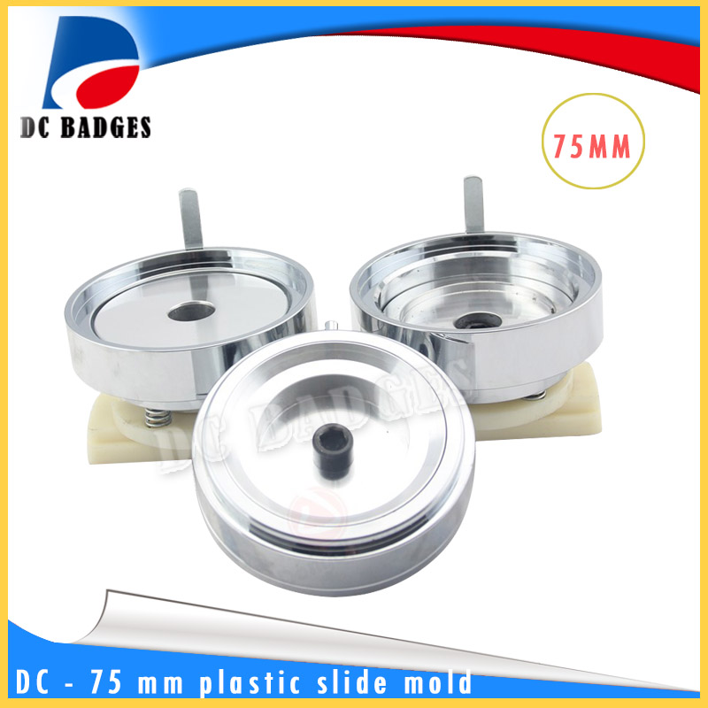 75 mm ABS plastic sliding button mold maker mold adapter badge machine mould factory outlet