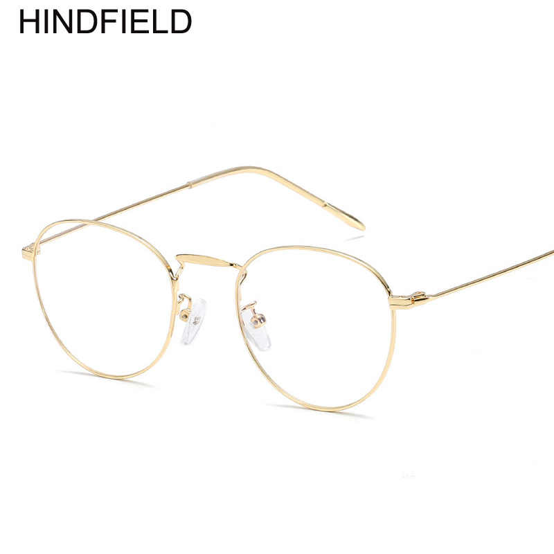 e9b4f7074f5 ... Ultra Light Women Round Metal Glasses Frame Fashion Female Clear Lens  Blue Light Glasses Fake Glasses ...