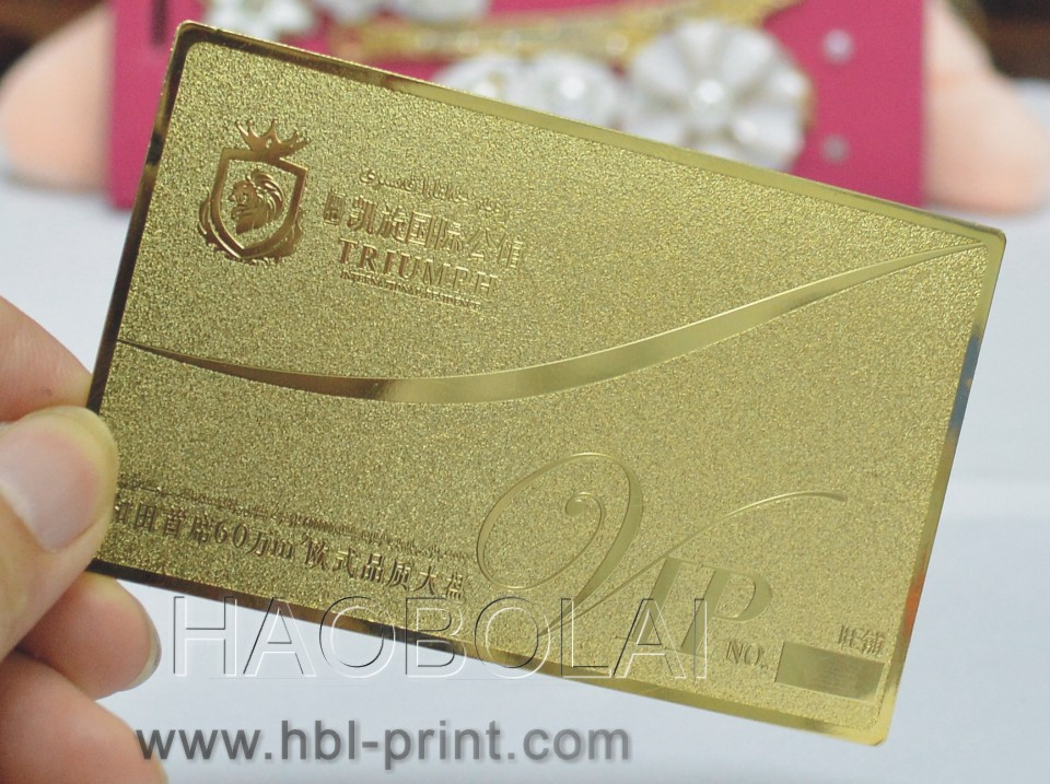 Gold metal card Gold plated copper gold card gold metal business ...