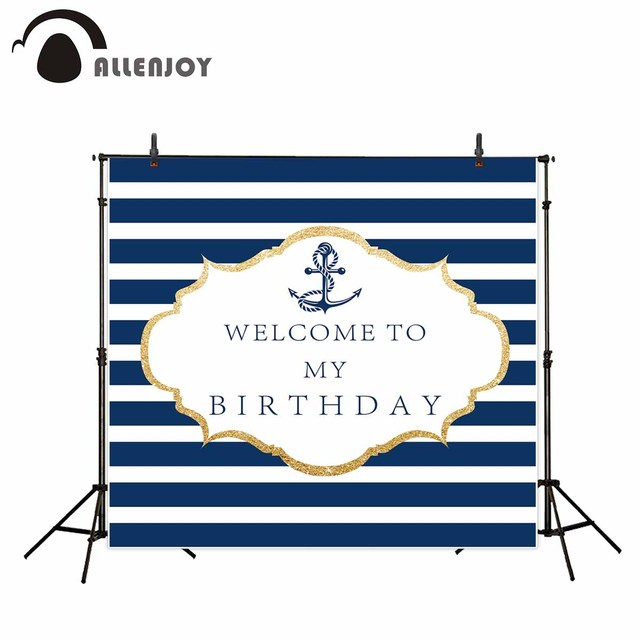Allenjoy photo background Blue and white stripes backdrop cool anchor birthday background photo photography background