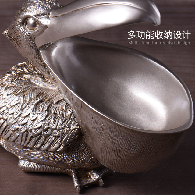 soft decoration living room door key storage cabinet shoe entrance decoration The pelican statue home decoration accessories