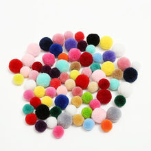 15mm 20mm 25mm 30mm Colors Hair Bulb Felt Balls Pom Poms for DIY Party Crafts Supplies Wedding Decoration Felt Ball Accessories(China)