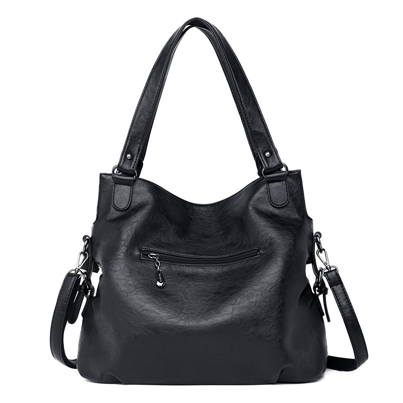 Image 3 - 2019 Large Capacity Women Messenger Bag Designer Women Bags Real  Leather Luxury Ladies Shoulder Bag sac a main Lady Big ToteShoulder  Bags