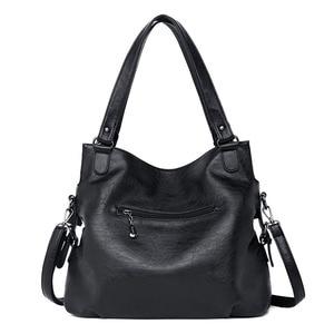 Image 5 - 2020 Large Capacity Women Messenger Bag Designer Women Bags Real Leather Luxury Ladies Shoulder Bag sac a main Lady Big Tote