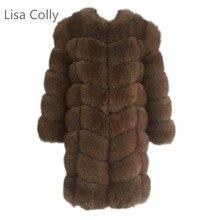 Lisa Colly 2018 Fashion Women Warm Import Coat Overcoat Fur Jacket Autumn Winter Faux Furs Long outwear